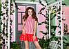 Веселое коротенькое платье сарафан с заниженой талией и юбкой воланом, фото 5