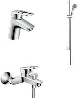 Набор смесителей Hansgrohe Logis Loop для ванной комнаты 3 в 1