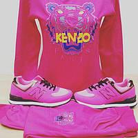 Розовый костюм со львом KENZO