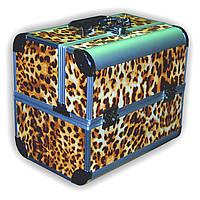 Чемодан металлический раздвижной леопард