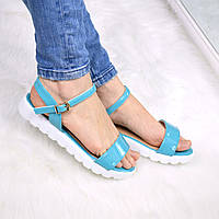 Босоножки женские Arina голубые, сандалии женские