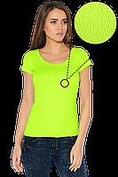 Футболка женская салатовая, яркие футболки лето