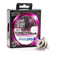 Автолампы H4 Philips COLOR VISION Purple  12V 60/55W
