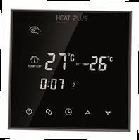 Сенсорный программатор теплого пола Heat Plus BHT-800GB sensor black (черный)