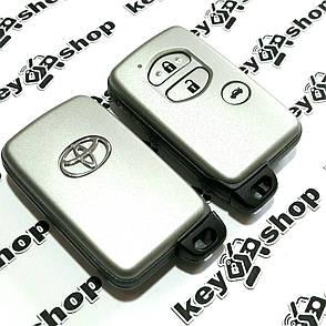 Смарт ключ для Toyota (Тойота) 3 кнопки, чип 6А, 433 MHz, фото 2