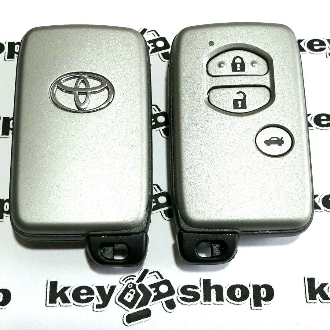 Смарт ключ для Toyota (Тойота) 3 кнопки, чип 6А, 433 MHz