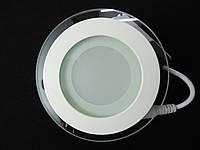 Светильник точечный Стекло LED 6W круг 4000К