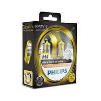 Автолампы H4 Philips COLOR VISION Yellow  12V 60/55W