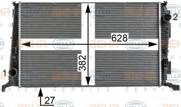 Радиатор охлаждения Dacia Daster 2010- (1.5DCI) 628*378 по сотах KEMP