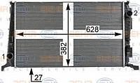 Радиатор  Dacia Daster 1.5DCI 2010-> 8200880550