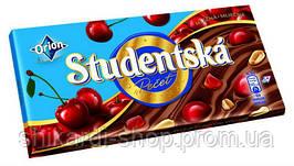 Studentska шоколад мол. арахис-вишня, 180 г