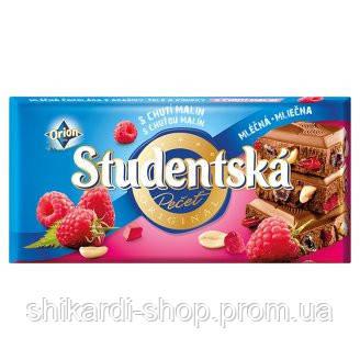 Studentska шоколад мол. арахис-малина, 180 г, фото 2