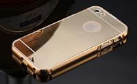 Золотой чехол для iphone 5/5S алюминий+зеркальный акрил, фото 1
