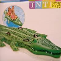 Надувная двухместная игрушка для плавания «Крокодил».