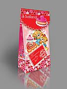 Картонная подарочная упаковка для конфет, 250-300г
