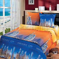 Ткань для детского постельного белья, бязь Город мечты