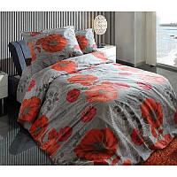 Ткань для постельного белья, бязь (хлопок) Унико (маки)