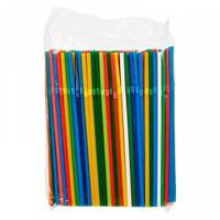 Коктейльные трубочки с гофрой цветные 200 шт