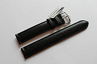 Кожаный ремень Bennett&Murray-ремень из натуральной кожи черный  гладкий 18 мм