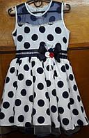 Платье нарядное горох р. 122-140