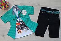 Летний костюм для мальчика Турция р. 5-6, 6-7, 8-9