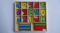 """Обучающий деревянный набор """"Математика"""",220*210*20мм  для обучения математике счету.Деревянная игрушка """"Набор"""