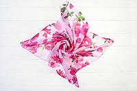 Платок Мими хризантема розовый