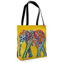 Большая сумка Нежность с принтом Слон