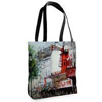 Большая сумка Нежность с принтом В городе