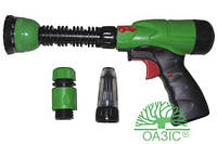 Пистолет поливочный пластмассовый со сменными насадками и соединителями  101LG