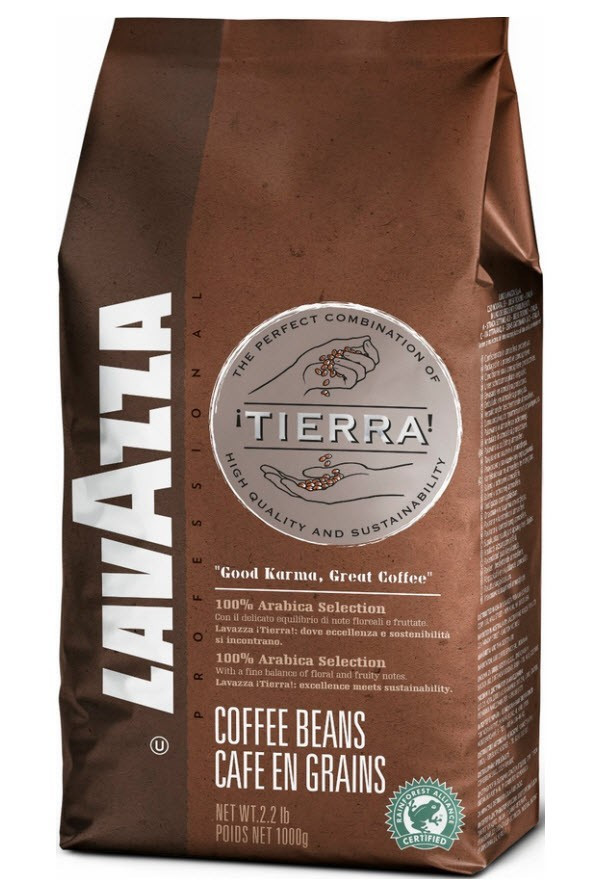 Кофе в зернах Lavazza Tierra 1kg 100% Arabica Original - ПЕТРОВКА HoReCa в Киеве