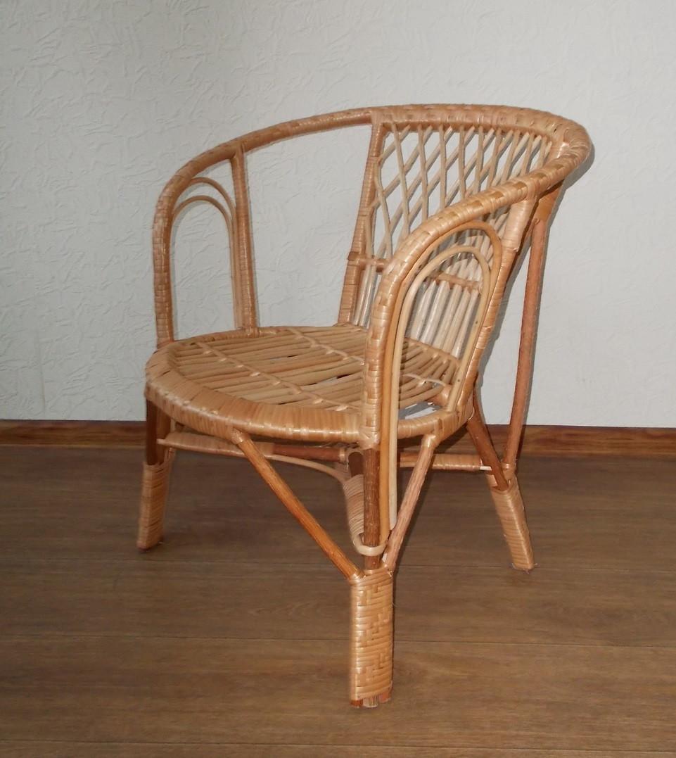 Кофе плетенное кресло ЧФЛИ из лозы 710х650х600 мм