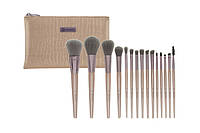 Набор кистей в косметичке Lavish Elegance - 15 Piece Brush Set With Cosmetic Bag BH Cosmetics Оригинал