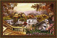Гобелен 5020 Дом у водопада 108х70
