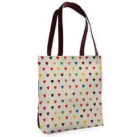 Большая сумка Нежность с принтом Сердечки
