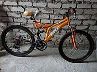 Горный спортивный велосипед 24 дюймов Azimut Fusion(оборудование SHIMANO)оранжевый ***