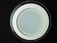 Світильник точковий Скло LED 12W коло Теплий білий