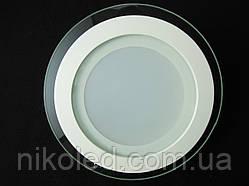 Светильник точечный Стекло LED 12W круг