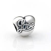 Pandora серебряный шарм Сердце Love Пандора