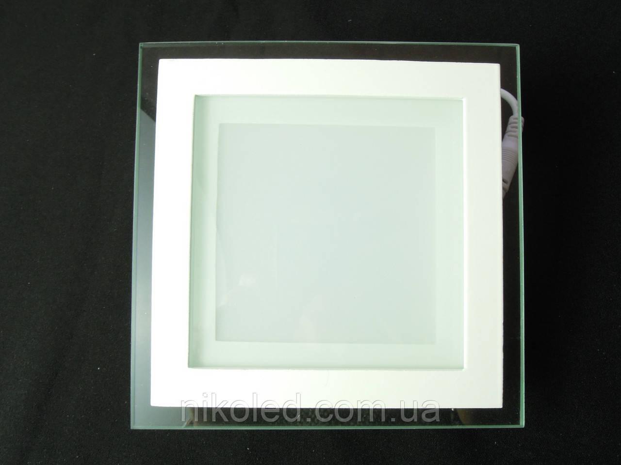 Светильник точечный Стекло LED 12W квадрат