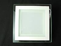Світильник точковий Скло LED 12W квадрат холодний білий