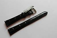 Кожаный ремень Bennett&Murray-ремень из натуральной кожи черный под крокодил 18 мм