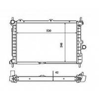 Радиатор  Opel Kadett 1.6-1.7D 520*370 1300050
