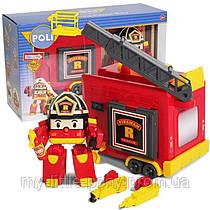 Трансформер Рой 12,5 см с гаражом Robocar Poli Silverlit