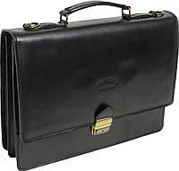 Мужской портфель из качественной натуральной кожи Rovicky AWR-2 черный