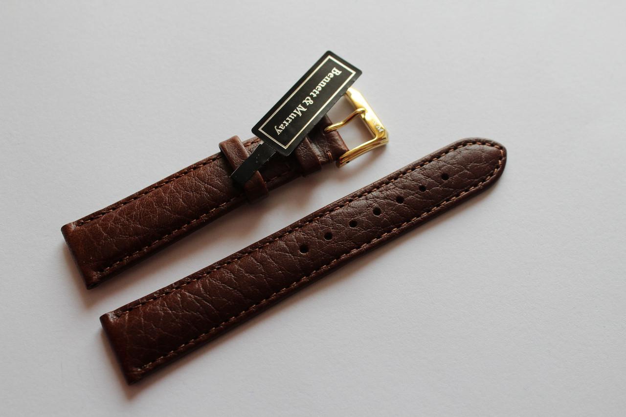 Кожаный ремень Bennett&Murray-ремень из натуральной кожи коричневый гладкий 18 мм