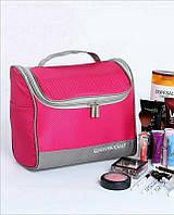 Большая косметичка, сумка, органайзер, несессер, кейс в отпуск, мужская, женская, малиновая