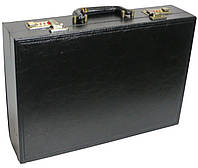 Мужской кейс-дипломат из искусственной кожи 4U Cavaldi черный A2101MA ШхВхГ: 42х30х10 см.