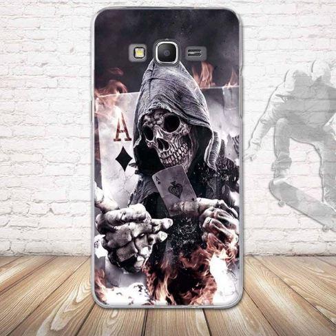 Оригинальный бампер для Samsung Galaxy G530 G531 Grand Prime с картинкой Скелет с картой