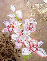 """Схема для вышивки бисером """"Ветка орхидеи""""."""